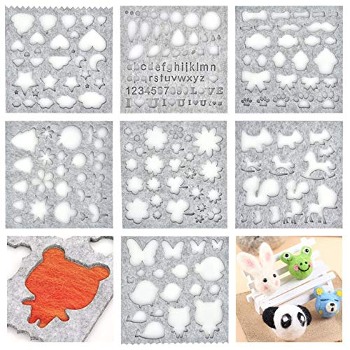 Wool Felt Mold Needle Felting Molds DIY Craft Stencil Applique Mold Sewing Accessories Felt Starter Kit Pattern Woolcraft Supply