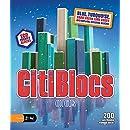 CitiBlocs 200-Piece Cool-Colored Building Blocks