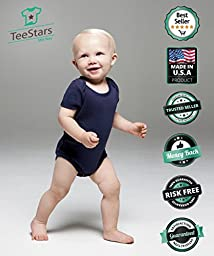 TeeStars - I Have The BEST MOM EVER! Mother\'s Day Gift Cute Unisex Baby Bodysuit 6M Navy