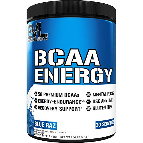 Evlution Nutrition BCAA Energy High Performance Amino Acid Supplement for Anytime Energy, Muscle Building, Recovery and Endurance, Pre Workout, Post Workout