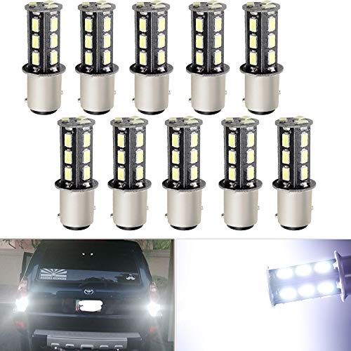 Base Bay15d - EverBright 10-Pack Super White 1157 BAY15D 1016 1034 7528 1157A 2057 Base 18 SMD 5730 LED Replacement for Car Bulb Tail Rear Brake Turn Bulb Stop Backup Lamp Parking Side Marker Lights DC 12V