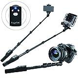 Fugetek FT-568 Rated Best Selfie Stick in 2015 Luxurious Bluetooth Self-Portrait Monopod (Black)