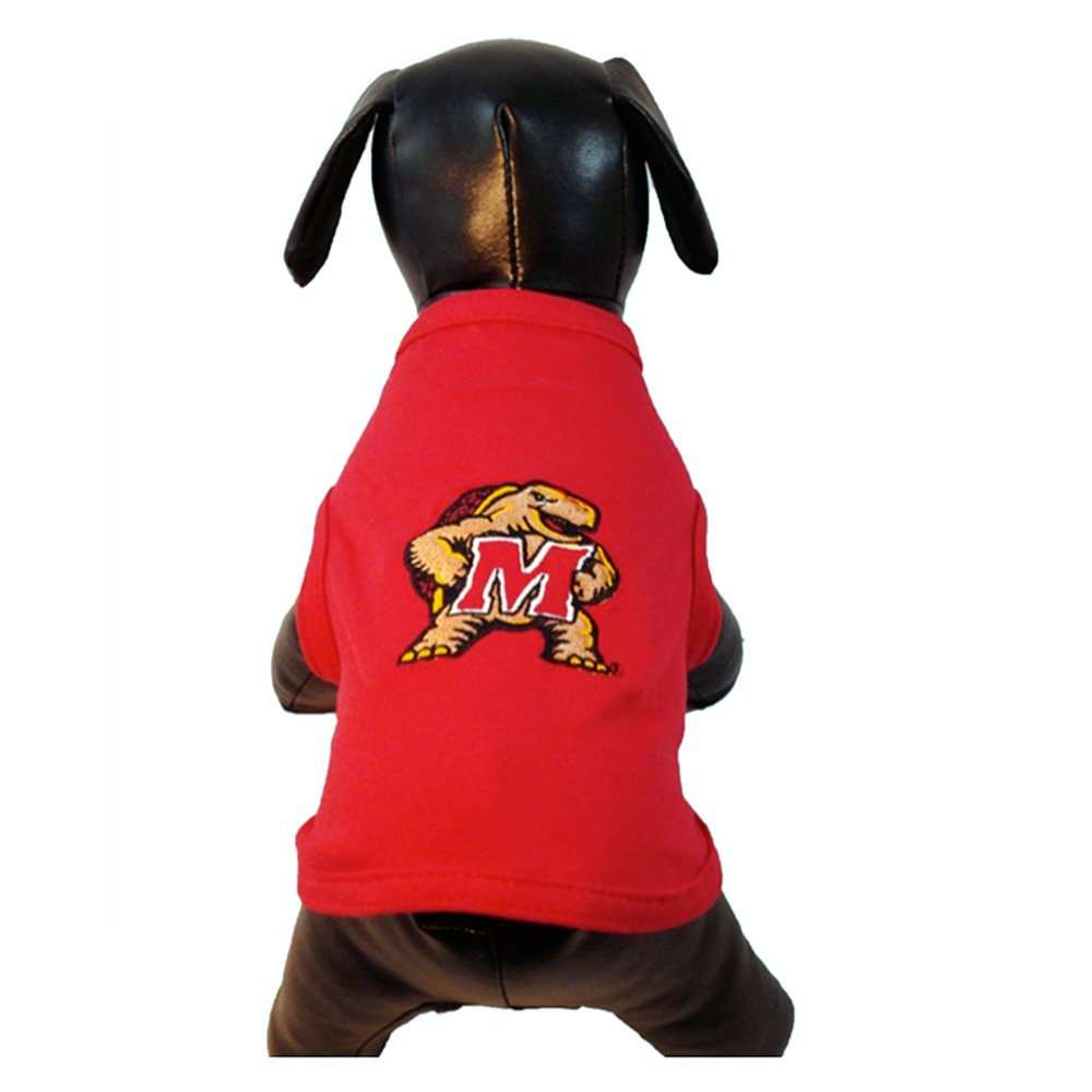 X-Small NCAA Maryland Terrapins Cotton Lycra Dog Tank Top