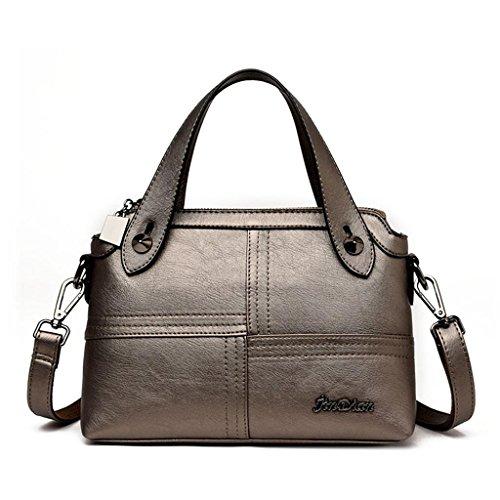 a Borsa semplice purple borsa Multi colore delle della Manuale Turismo modo dei cucire Grande capacità Shopping della donne di a borsa tracolla bronze NVBAO tracolla colori UXSdqwxAq