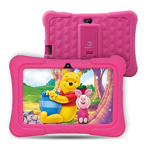 Upgraded - Dragon Touch Y88X Pro 7 inch Kids Tablet, 2GB RAM 16GB Android 9.0 Tablets, Kidoz Pre-Installed with All-New Disney Content WiFi Only - 2019 New Model - Pink