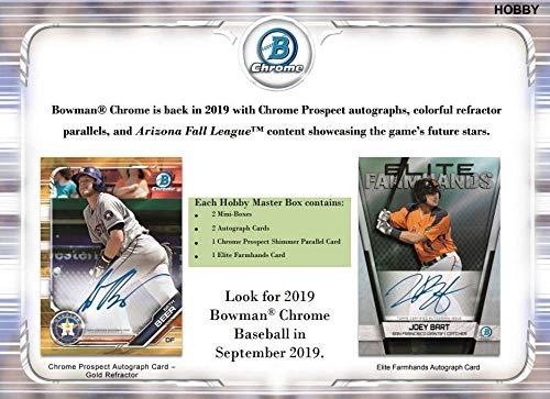 2019 Bowman Chrome Baseball Hobby Box (12 Packs/5 Cards: 4 Hits) ()