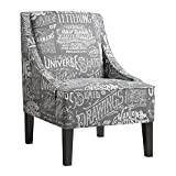 Cheap Pulaski Upholstered Arm Chair in Chalkboard Shadow, Medium, Multicolor