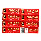 ZIG-ZAG Red Cut Corners : 8 booklets x 60 rolling papers