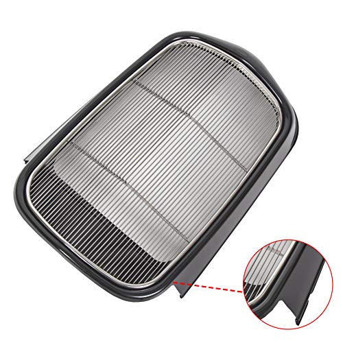 ECOTRIC Polished Stainless Steel Front Grille Shell + Insert (Black/Metallic) For Ford 1932 Models Model B/BB / 18 (Without Crank Hole)