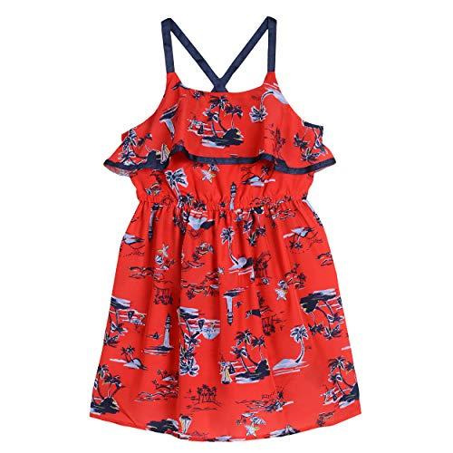 Red Dresses For Little Girls (Nautica Girls' Spaghetti Strap Fashion Dress  scenic dark red)