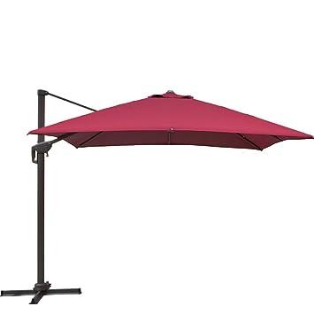 SNAIL 10 X 10 Ft Heavy Duty Aluminum 360 Degree Rotating Square Patio  Offset Umbrella With