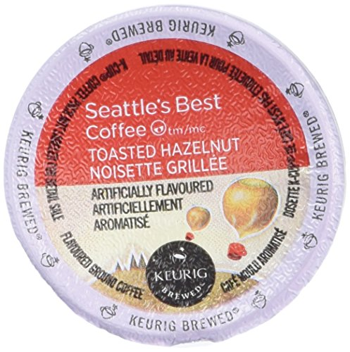 Seattle's Best Coffee Toasted Hazelnut K-cup 16 Packs (Pack of 2)