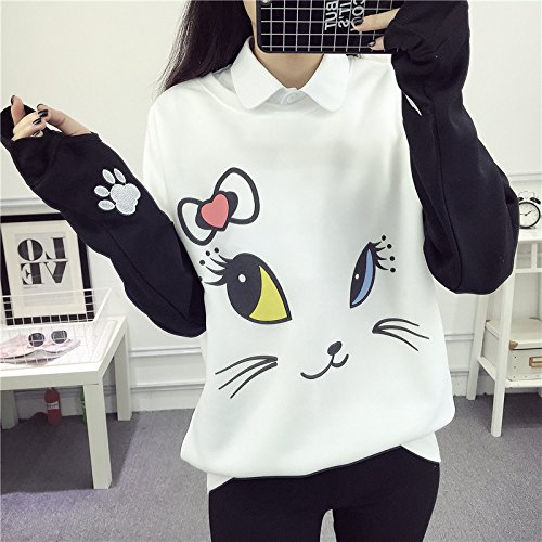 EDC-OnSale Lovely Cartoon Hoodies Female Kawaii Sleeved Womens Sweatshirts Leisure New Autumn Winter Cute