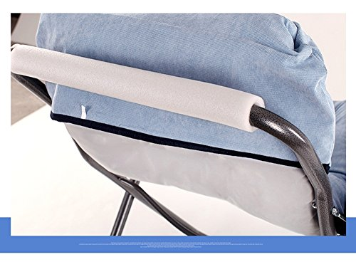 Computer chair / home lazy chair / folding college dormitory balcony office chaise longue / bedroom game chair / chair 65 66 43 / 95cm ( Color : 9 ) by Folding Chair (Image #3)
