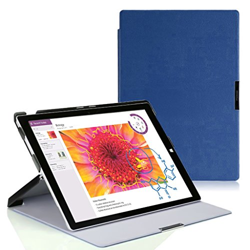 MoKo Microsoft Surface 3 Case - Slim Lightweight Smart Shell Cover Case for Surface 3 10.8 inch 2015 Version Windows 8.1 Tablet (NOT Fit Surface Pro 3 12 Inch Tablet), INDIGO
