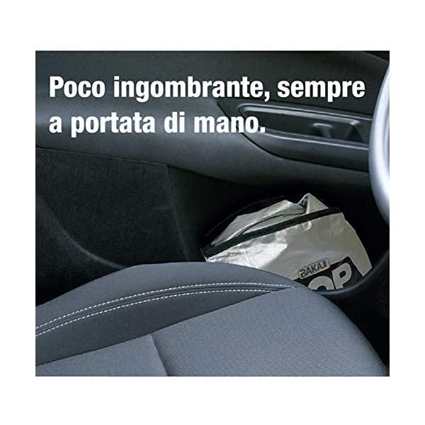 BAKAJI Parasole Parabrezza Anteriore Interno Auto Pop-Up Tendina Protezione Cruscotto Pieghevole Universale con Ventose… 4 spesavip