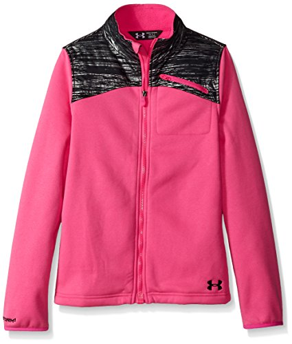 Under Armour Girls' Extreme ColdGear Jacket, Rebel Pink/Black, Youth (Under Armour Pink Jacket)