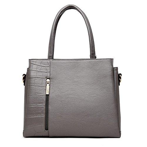 Cuero De Señoras Nuevas Bolso Nueva Bolsas Claret del Hombro grey Dark Bolso Moda Meoaeo wqpXAw