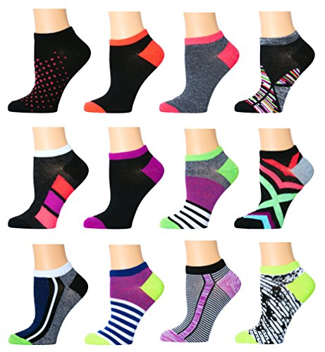 Top Step Women's No Show Athletic Socks - 12 ()