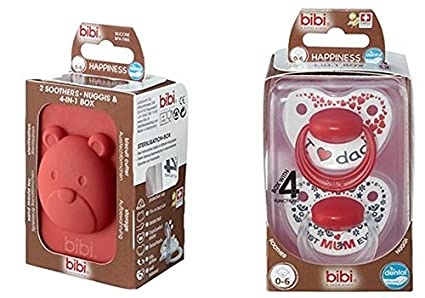 Bibi - Fopspeen Happiness Duo (0-6 maanden) Mum and Dad