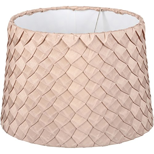 Fabric Tapered Shade - Better Homes & Gardens Beige Pleated Squares Tapered Drum Shade