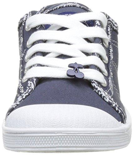 Time femme Cherries Donna Blu 02 The blu bandana Sneakers Of scuro Basic XpnCda