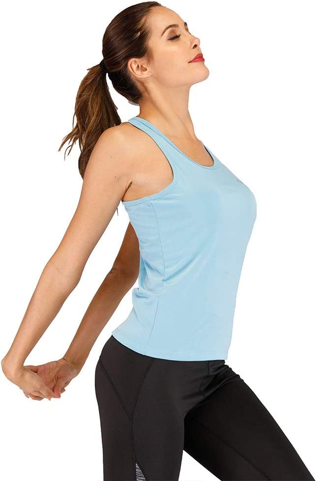 SKYSPER Womens Racerback Tank Tops Activewear Vests Workout Tees Sleeveless for Yoga Running Sports Gym Fitness