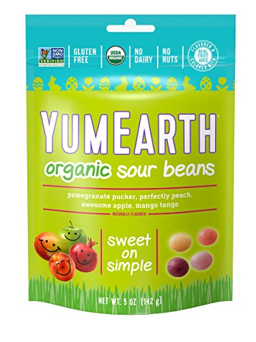 YumEarth Organic Easter Sour Bean Pouches, 6 Count