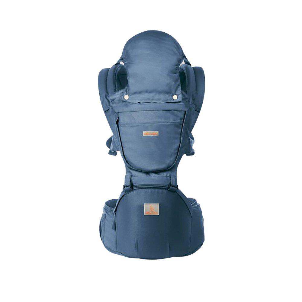 6 in 1 Baby Carrier/ Babytrage/ Bauchtrage/ Rückentrage Neugeborene 360 for All Seasons- 6 Position, Einfaches Stillen, Keine Säuglingseinlage Erforderlich, Anpassung an Wachsende Babys (Blau) GossipBoy