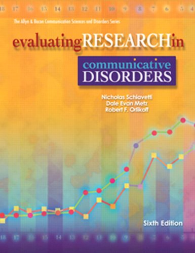 Evaluating Rsrch.In Commun.Disorders