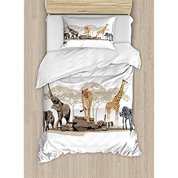 amazoncom cliab white tiger bedding set 3d animal print
