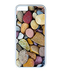 VUTTOO Iphone 6 Case, Beach Pebbles Hardshell Case for Apple iPhone 6 4.7 Inch PC White