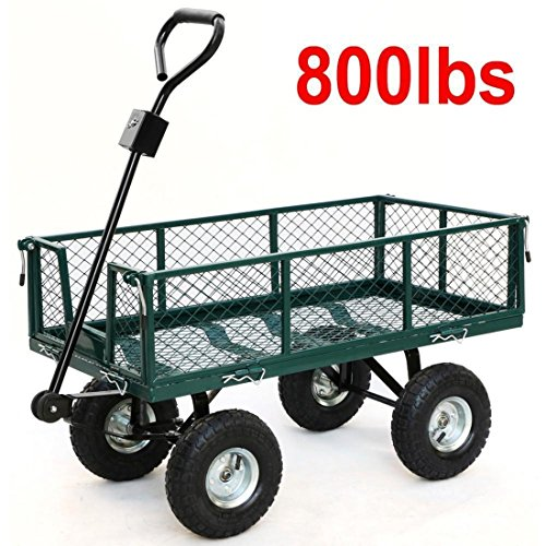 Garden Wagon Cart Yard Garden Lawn Wheelbarrow Trailer Steel by ThaiShop4all
