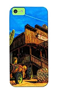 Case Provided For Iphone 5c Protector Case Arizona Saloon Cactus Landscape Western Phone Cover With Appearance