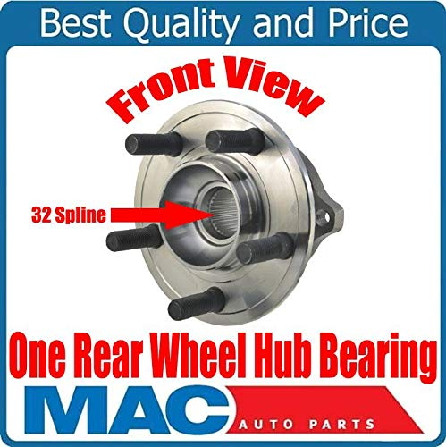 ONE New REAR 32 Spline Wheel Hub Bearing for Chrysler 300 09-14 Rear Solid Rotor by Mac Auto Parts