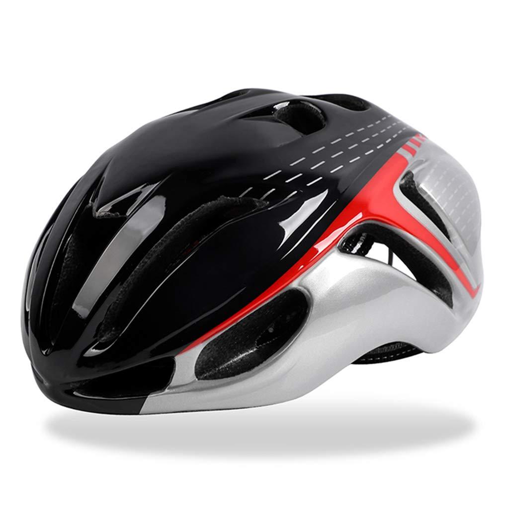Black Silver One Size Bicycle Helmet Men Women Riding Racing Helmet Adults Teenager Breathable Adjustable Mountain Road Bike Helmet
