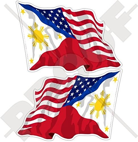 - USA United States of America & PHILIPPINES, American-Philippine Flying Flag 4,7