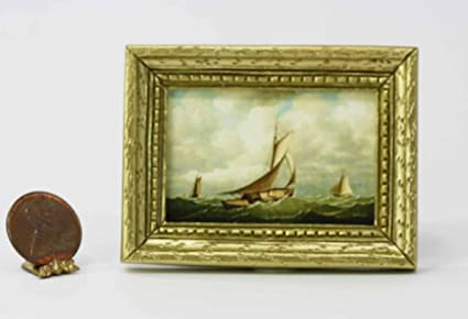 3 inches long Miniature Sail Boat Toy