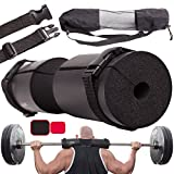 Titanium Peak BLACK - Premium Barbell Pad for hip thrusts and Quick Release Straps by Weight Cushion Support Gym Barbell Pad for Standard and Olympic Squat Bar