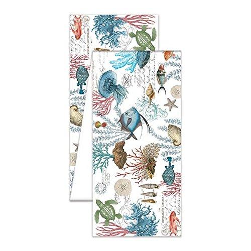 The Deborah Michel Collection Turkish Cotton Table Runner, Sea Life, 60