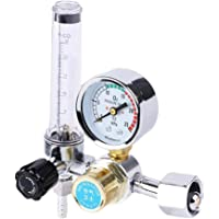 Amagogo 0-25Mpa CO2 Argon Pressure Reducer Regulator Welding Gauge Gas Flowmeter