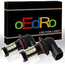 oEdRo H10 LED Fog Light Bulb High Power 80W Super Bright @ 1200Lm per bulb for DRL White 6000K(2-Pack)