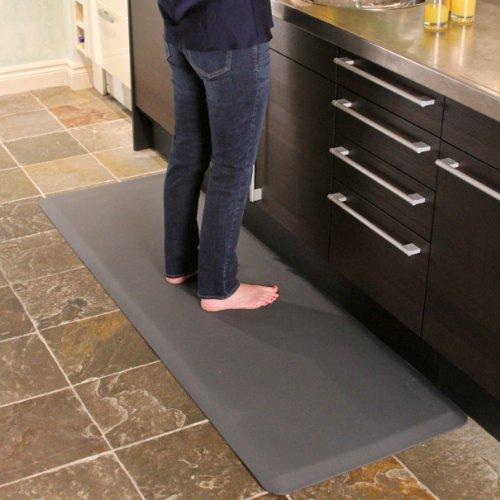 WellnessMats Original Anti-Fatigue 72 Inch by 24 Inch Kitchen Mat, Grey by WellnessMats (Image #3)