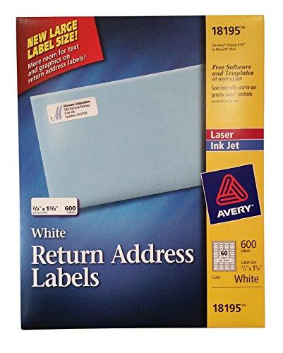 AVERY Return Address Labels 18195