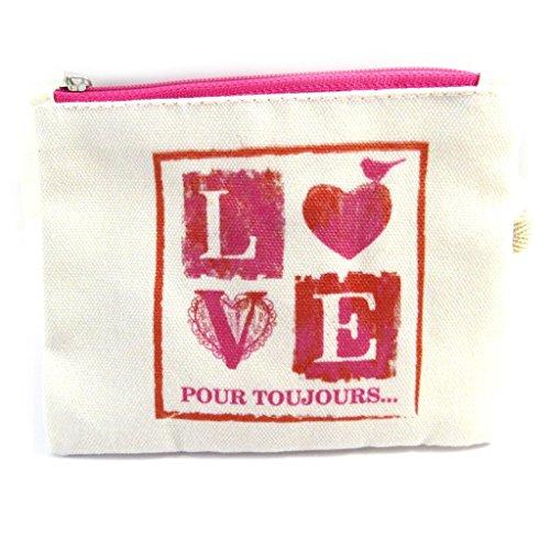 Wallet 'Love' Red Beige