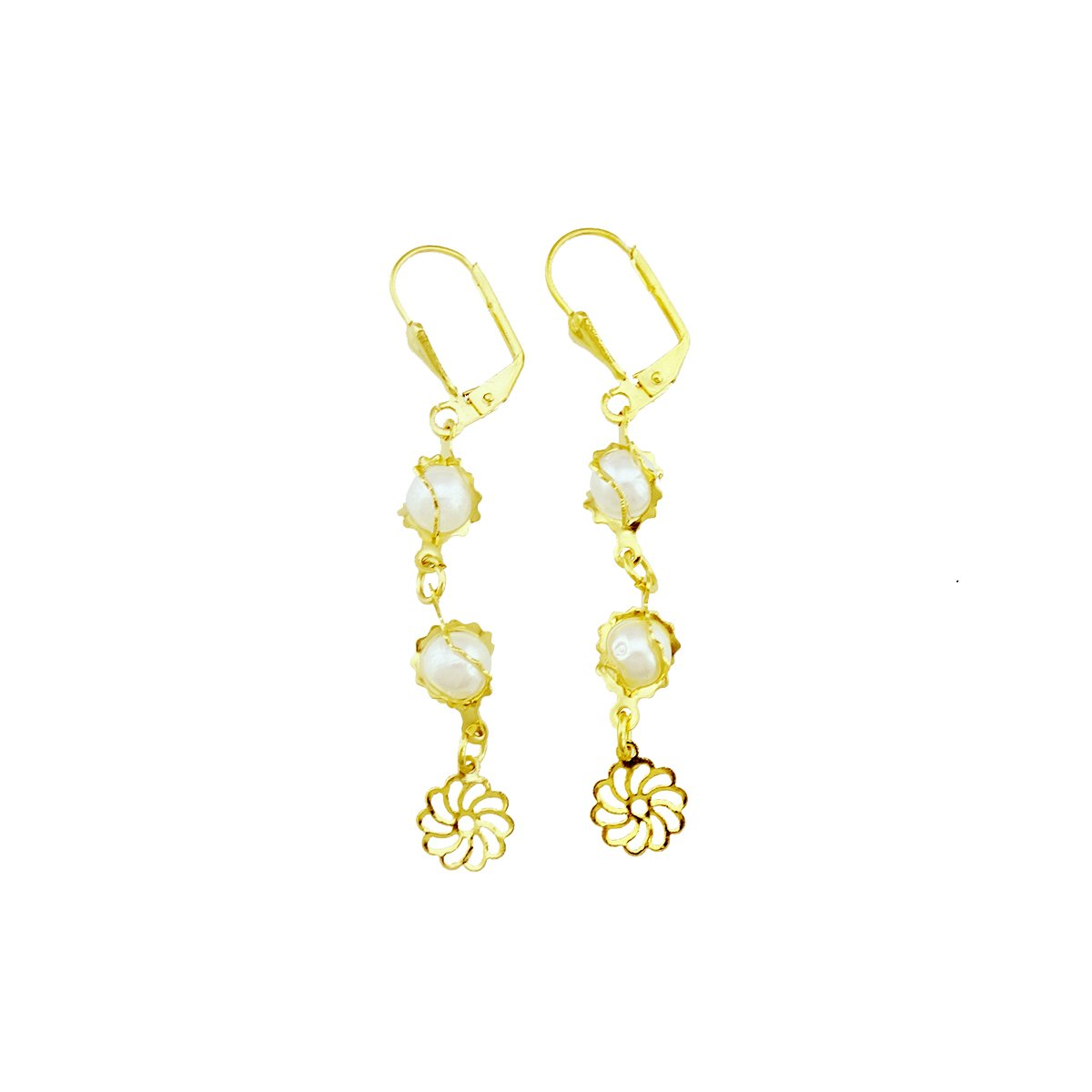 32157ae88a0 Amazon.com  Passage 7 18K Real Gold Plated Pearl Tassel Pendant Earrings   Jewelry