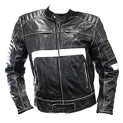 f23c80788 Amazon.com: PERRINI Men's Classic Black White Motorbike Riding ...
