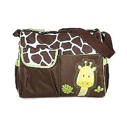 OFKP® Multifunctional Mummy Handbag Baby Diaper Nappy Changing Bag---Orange Giraffe Pattern