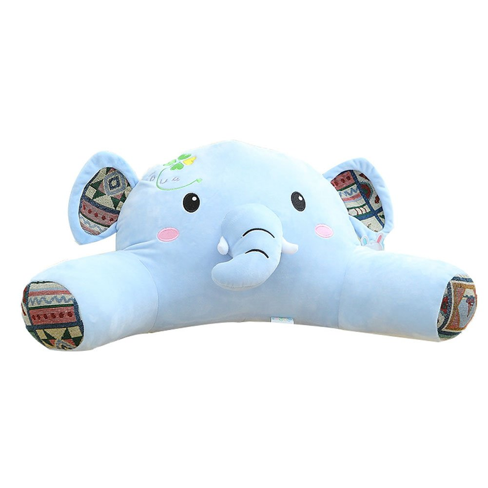 Mlotus Plush Elephant Kids Bedrest Reading Pillow with Arms Back Support Bed Rest Pillows