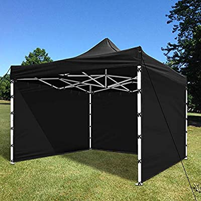 Instahibit 1 Pc Side Wall for 10x10 Ft Straight Leg EZ Pop Up Canopy Tent Party Gazebo Shelter Sun Wall Oxford Black : Garden & Outdoor